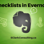 Checklists in Evernote