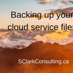Backing up your cloud service files